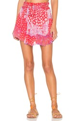 Poupette St Barth Coco Mini Skirt Coral