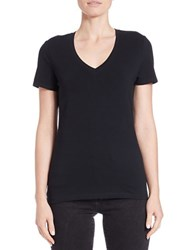 Lord And Taylor Petite V Neck Tee Black