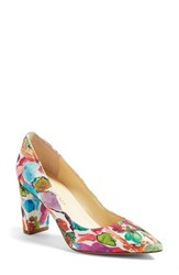Ivanka Trump Women's 'Lysa' Pointy Toe Pump Fuchsia Fabric