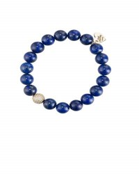 Soul Journey Lapis Lazuli Beaded Stretch Bracelet Blue