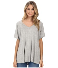 Culture Phit Viola Modal Short Sleeve Top Heather Grey Women's Clothing Gray