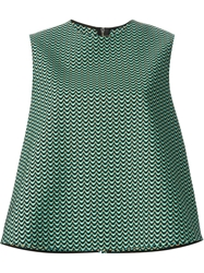 Hache Knitted Flared Top Green