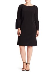 Lafayette 148 New York Marisa Flounce Sleeve Shift Dress Black