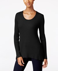 Styleandco. Style Co. Petite Scoop Neck Sweater Only At Macy's Deep Black