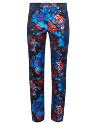 Mary Katrantzou Cigarette Floral Jacquard Trousers Black Multi
