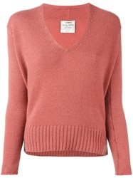 Forte Forte 'Adrianna' Fine Knit Jumper Pink And Purple