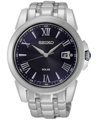 Seiko Men's Solar Le Grand Sport Stainless Steel Bracelet Watch 42Mm Sne395 No Color