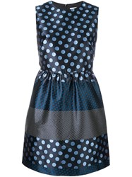Red Valentino Polka Dot Dress Blue