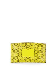 Reed Krakoff Atlantique Leather Trimmed Snakeskin Pouch Yellow