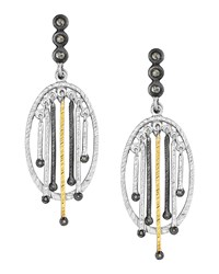 Spring Tricolor Earrings With Diamonds Coomi Multicolored