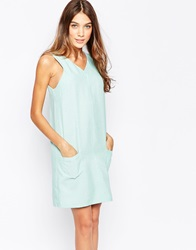 Style London Shift Dress With Pocket Detail Mint