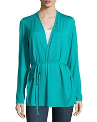 Lafayette 148 New York Long Sleeve Wrap Cardigan W Self Tie Women's