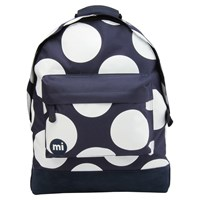 Mi Pac Polka Dot Xl Backpack Navy