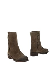 El Campero Footwear Ankle Boots Women Military Green