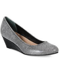 Giani Bernini Jileen Wedges Only At Macy's Women's Shoes Black White