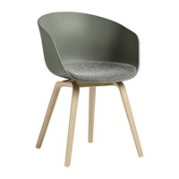 Hay About A Chair Aac22 With Upholstered Seat Khaki