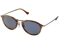 Persol 0Po3046s Havana Gunmetal Light Blue