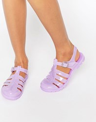 Asos For You Jelly Gladiator Sandals Lilac Purple