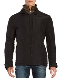 Weatherproof Zip Front Quilted Lining Jacket Black