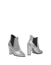 Luca Valentini Ankle Boots Silver