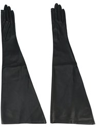 Rick Owens Touch Screen Gloves Black