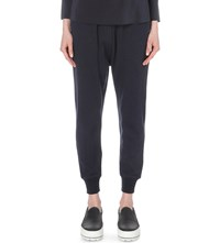 Brunello Cucinelli Cashmere And Cotton Blend Jogging Bottoms Navy