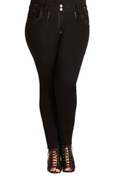 Plus Size Women's City Chic 'Zip Me' Stretch Skinny Jeans