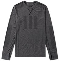 Adidas Consortium Day One Long Sleeve Seamless Tee Grey