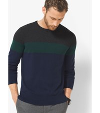 Color Block Wool Blend Sweater