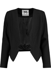 Milly Cropped Crepe Blazer Black