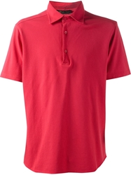 Loro Piana Classic Polo Shirt Pink And Purple