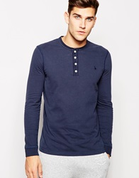 Jack Wills Rosewood T Shirt With Long Sleeves In Navy
