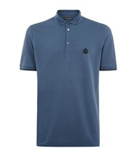 Dolce And Gabbana Embroidered Crown Polo Shirt Male