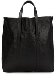 Zilla Large Leather Shopper Black