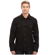 Fjall Raven Ovik Wool Shirt Black Men's Long Sleeve Button Up