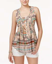 American Rag Printed Pintucked Sleeveless Top Only At Macy's Garden Print