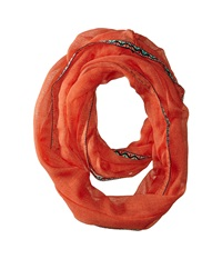 Steve Madden Touch Of Tribal Infinity Scarf Orange Scarves