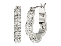 Marc By Marc Jacobs Diamonds And Daisies Daisy Window Mini Hoops Earrings Crystal Argento Earring Silver