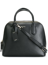 Dkny Double Zip Tote Black