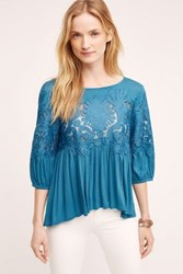 Deletta Desi Laced Blouse Blue