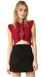 For Love And Lemons Rivington Crop Top Raspberry