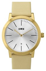 Women's Edwin 'Kenny' Leather Strap Watch 32Mm