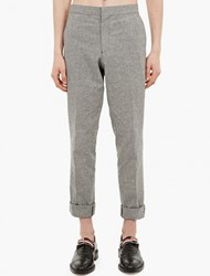 Thom Browne Panelled Gingham Backstrap Trousers
