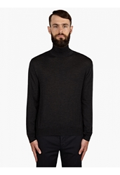 Valentino Men's Silk Blend Colour Block Turtleneck Knit
