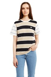Lacoste For Opening Ceremony Short Sleeve Crewneck T Shirt Brown Black