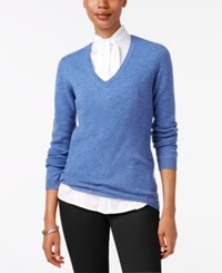 Charter Club Cashmere V Neck Sweater Only At Macy's 18 Colors Available Bluegrass