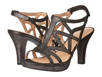Naturalizer Danya Black Pewter Metallic Women's Sandals