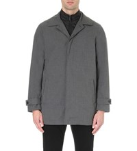 Michael Kors Double Layer Woven Trench Coat Charcoal Mel