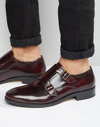 Base London Xxi Nash Leather Monk Shoes Red