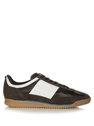 Maison Martin Margiela Retro Suede And Leather Low Top Trainers Grey Multi